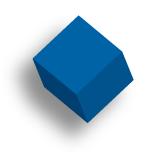 dark blue cube